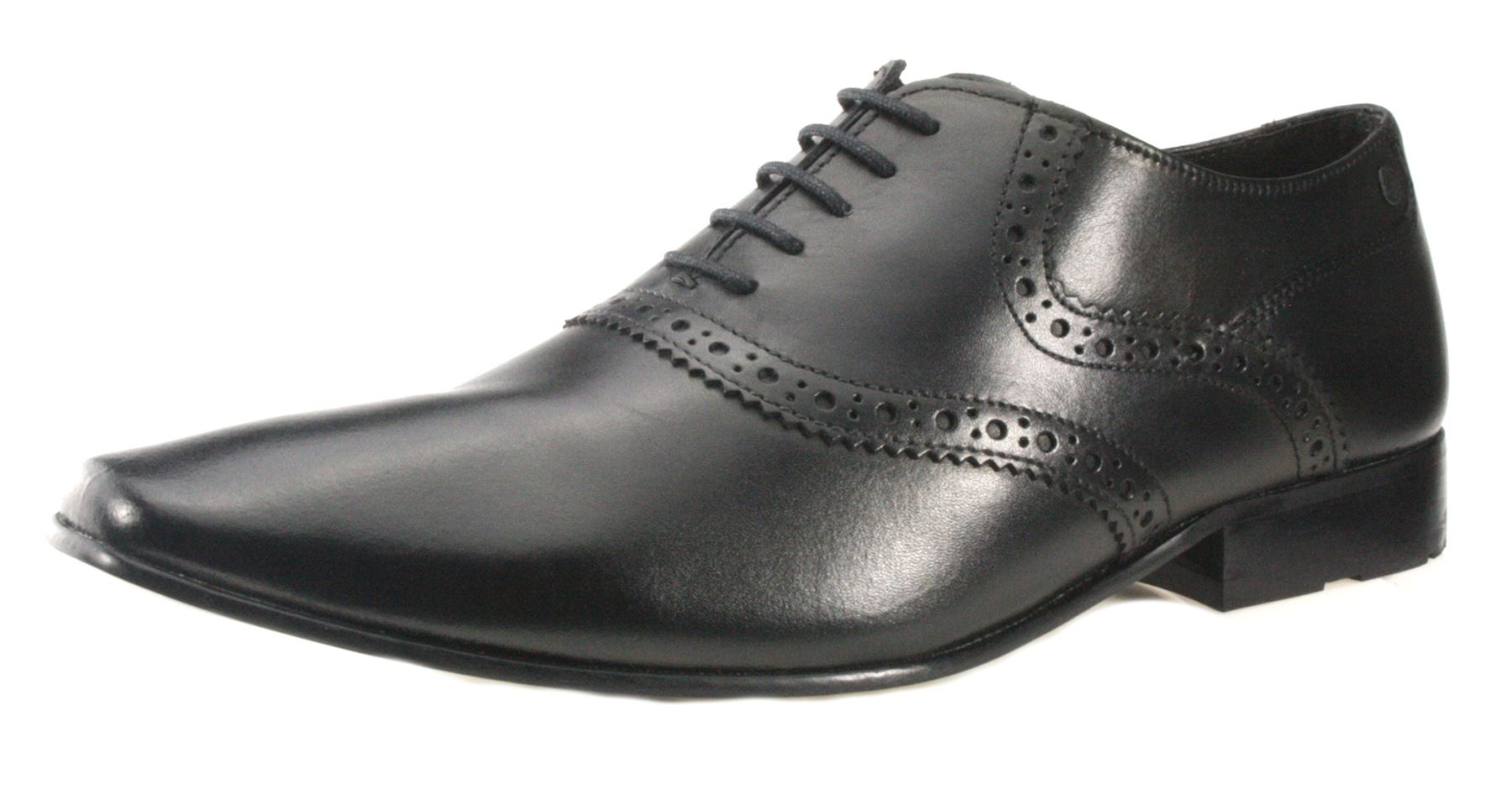 base pointed toe black lace up mens shoes formal shoes