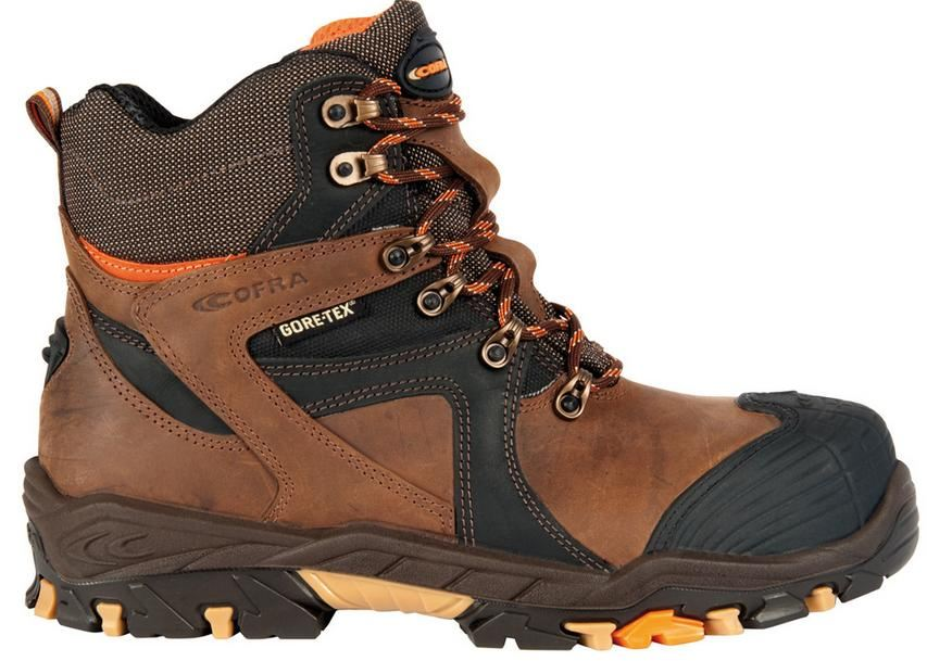 Cofra Ramses S3 Mens brown gore-tex work boots composite toe caps ...