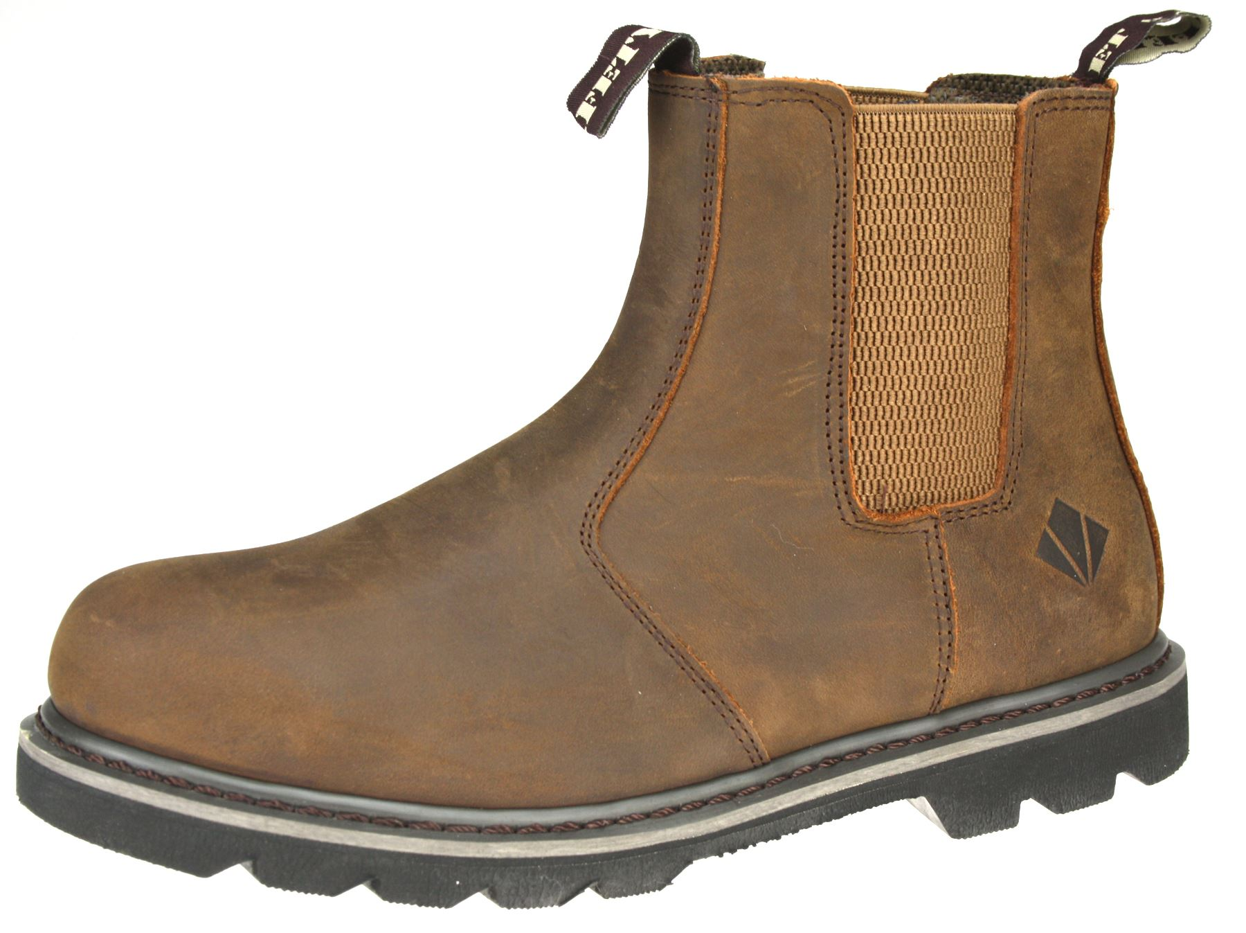 et safety g0320 safety brown dealer boots