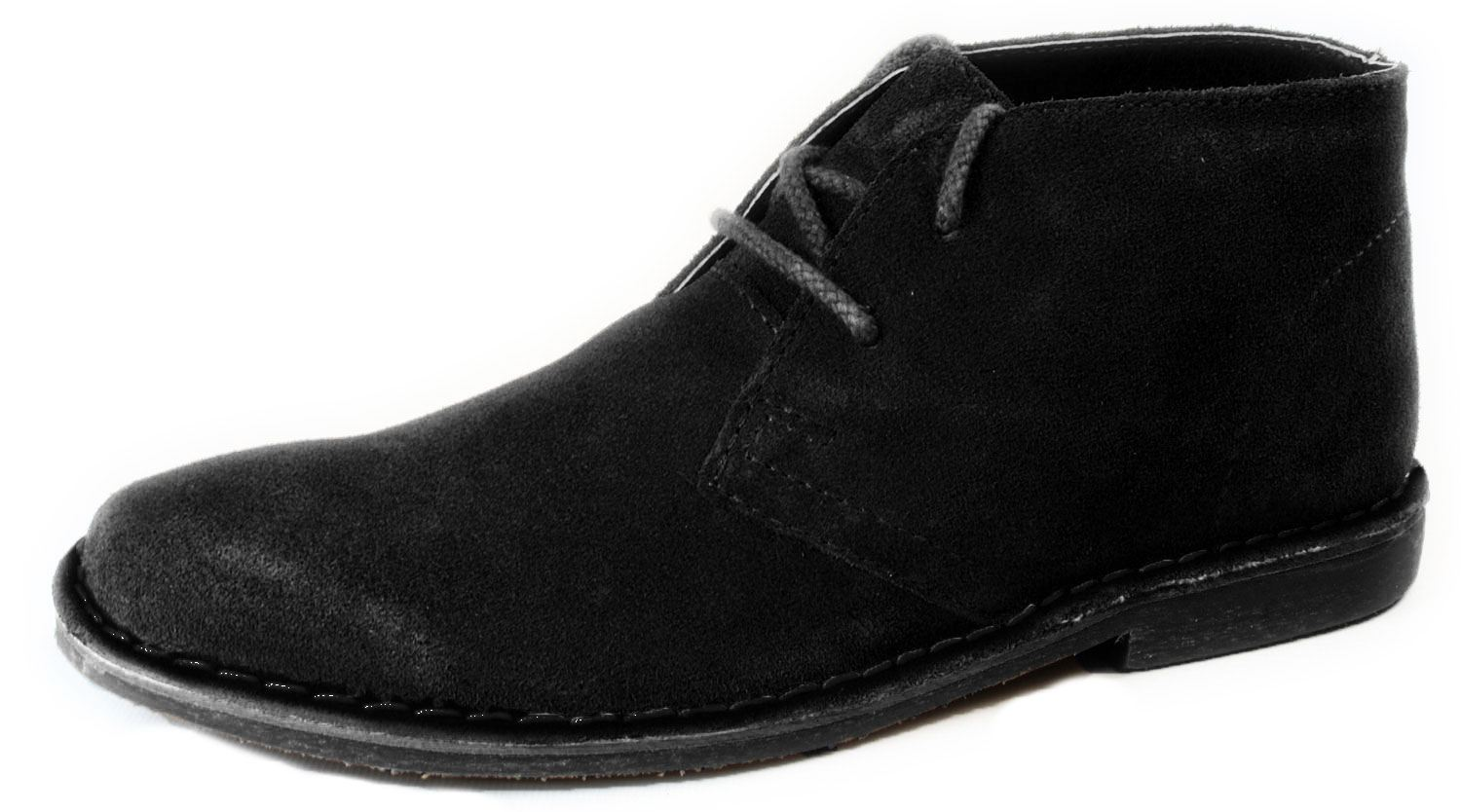d149b59ad Red Tape Black Suede Desert Lace Up Mens Chukka Gobi Boots